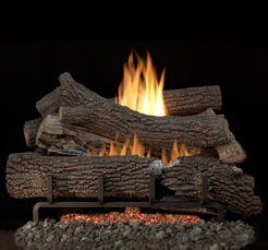 30inch NATURAL GAS GIANT TIMBERS CONCRETE LOG SET