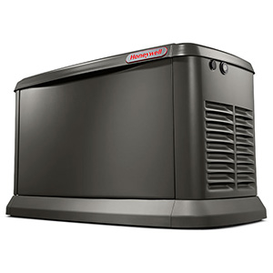 7180 HONEYWELL GENERAC 13/13 KW WITH WI-FI AIR-COOLED NATURAL OR LP GAS STANDBY GENERATOR ALUMINUM ENCLOSURE 48 X 25 X 29 FEATURES: INCLUDE: 2 LINE LCD DIGITAL CONTROLLER, FLEXIBLE FUEL LINE CONNECTOR, WHISPERCHECK EXCERCISE DIRECT TO DIRT COMPOSITE PAD 5 YEAR LIMITED WARRANTY USE WITH NEW DRY CELL BATTERY