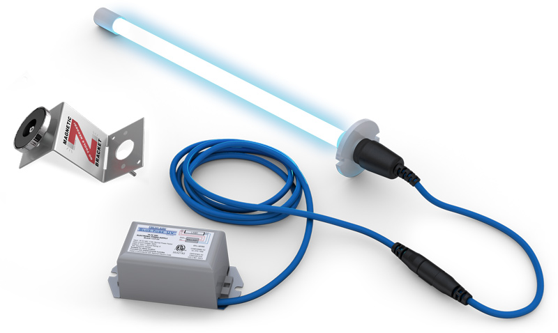 TUV-BTER2 FRESHAIRE UV BLUE-TUBE KIT SINGLE BULB IN DUCT USE 18-32V POWER SUPPLY INCLUDED 16 VA POWER DRAW 2YR LAMP DOES NOT CREATE OZONE