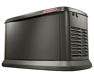 7213 24KW WITH WI-FI HONEYWELL GENERAC KW AIR-COOLED NATURAL OF LP GAS STANDBY GENERATOR AND ALUMINUM ENCLOSURE - FEATURES INCLUDE: 2 LINE LCD DIGITAL CONTROLLER, FLEXIBLE FUEL LINE CONNECTOR, WHISPERCHECK EXCERCISE DIRECT TO DIRT COMPOSITE PAD ELECTRONIC GOVENOR 48 X 25 X 29 5 YEAR LIMITED WARRANTY USE WITH NEW DRY CELL BATTERY