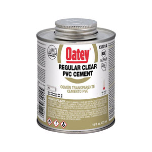 31014 OATEY 16oz PVC CEMENT-REGULAR CLEAR