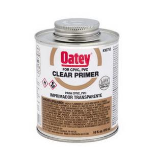 30752 OATEY 16OZ CLEAR PRIMER PVC CPVC 1 PINT (BRO