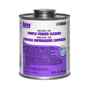 30806 OATEY PRIMER CLEANER - PURPLE 32OZ 1 QUART L