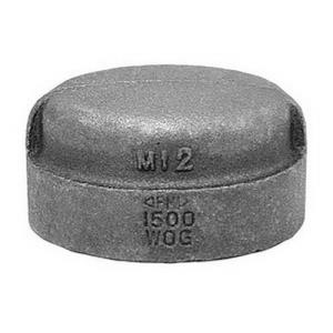 1-1/2inch BLACK MI CAP DOMESTIC