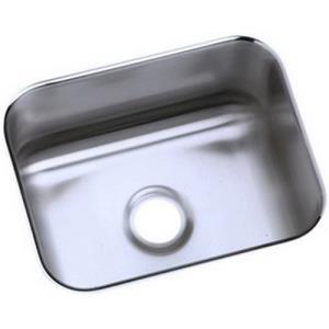 Elkay ELU129 Gourmet? Lustertone Stainless Steel Undermount Bar Sink, Lustrous Satin