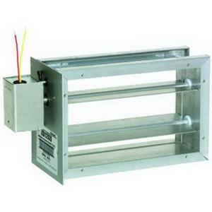 "Honeywell ZD 24 volt Rectangular Parallel Blade Damper, 10"""""""" W x 20"""""""" H"