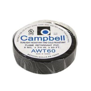 AWT60NL 3/4x60feet ALL WEATHER ELECTRICAL TAPE BLK