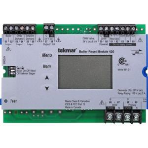 420 TEKMAR tN4 BOILER RESET MODULE ONE ON -OFF OR