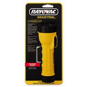"RAYOVAC 2CELL ""D""SIZE YELLOW WITH MAGNET AND RING"