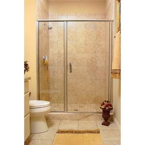 1413S-7CL BASCO INFINITY FRAMELESS DOOR, CLEAR/CHR