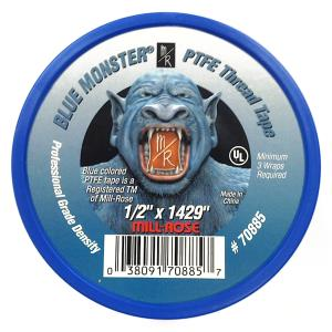70885 1/2inch BLUE MONSTER TEFLON TAPE 120ft MILLR