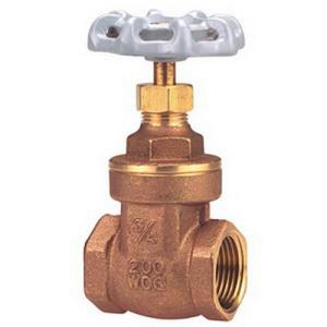 1-1/2inch NIBCO TI8 THREADED FP GATE VALVE 200# BR