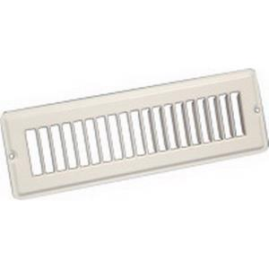 TG32W1003 CONTINENTAL 10x2-1/4 TOE SPACE GRILLE WH