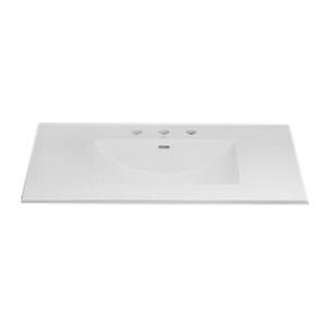 212237-8-WH RONBOW KARA 37x22 CERAMIC SINK TOP FIT