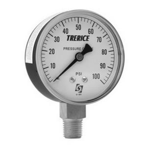 0-100psi TRERICE 2-1/2inch DIAL 1/4inch NPT CENTER
