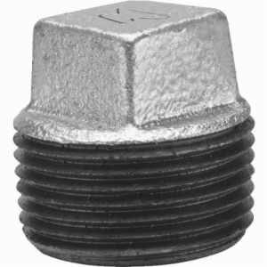 1-1/2inch BLACK MALLEABLE CORED SQ HD PLUG